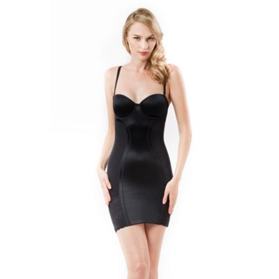 Black shaper slip dress