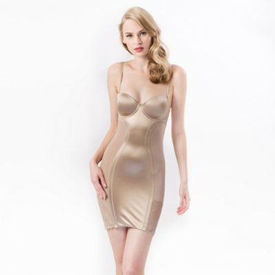 Natural shaper slip dress