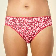 Pack of five dark pink floral high leg briefs
