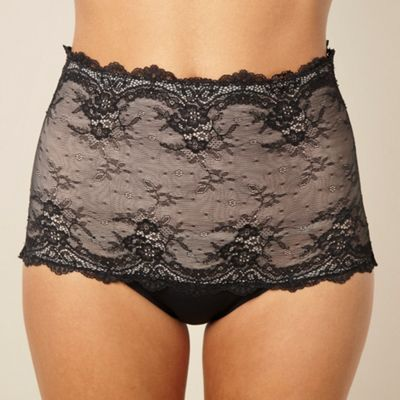 Black lace low leg shaping briefs