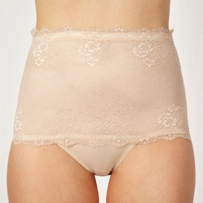 Natural invisible deep waist briefs