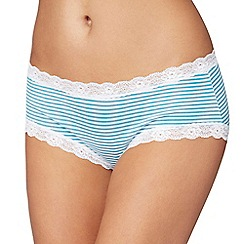 The Collection - White and turquoise striped shorts