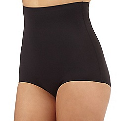 Debenhams - Black firm control high waisted comfort briefs
