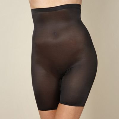 Black medium control lightweight thigh slimmers
