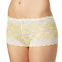 The Collection - Yellow lace shorts