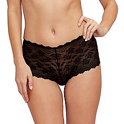 The Collection - Black all over lace shorts