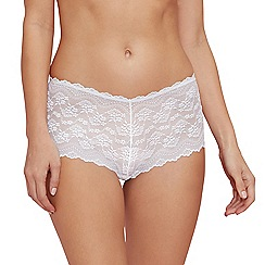 The Collection - White all over lace shorts