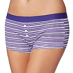 The Collection - Purple striped boxer briefs