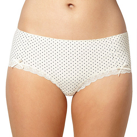 Debenhams - Cream spotted microfibre shorts