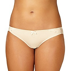 Debenhams - Natural lace brazilian briefs