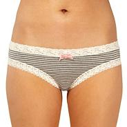 Grey striped brazilian briefs