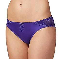 The Collection - Purple lace back Brazilian briefs