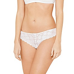 The Collection - White all over lace hipster thong