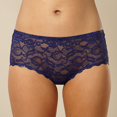 Debenhams - Navy all over lace shorts