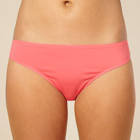 Debenhams - Peach lace invisible brazillian briefs