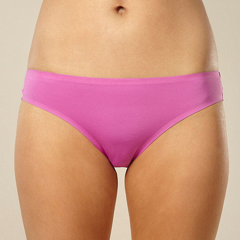 Debenhams - Lilac lace invisible brazillian briefs