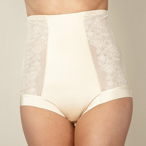 Debenhams - Natural embroidered high waist briefs