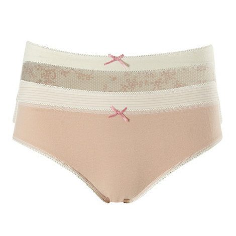 Debenhams - Pack of five natural print bikini briefs
