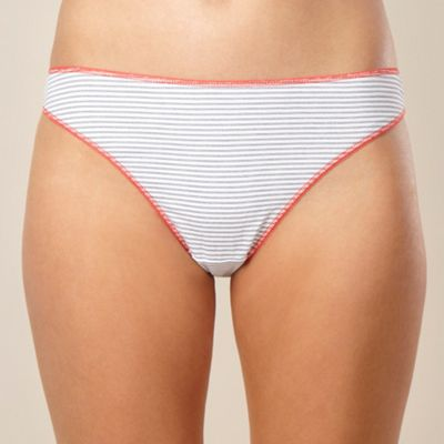 Pack of five bright stripes thong