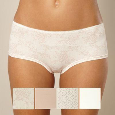 Pack of five natural print shorts