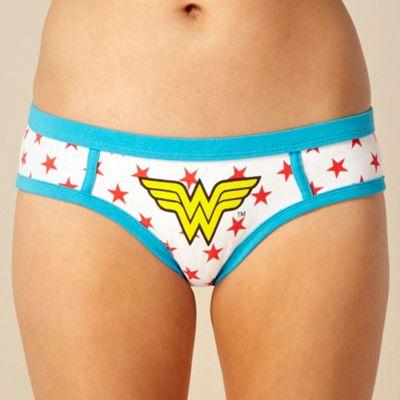 White Wonderwoman shorts