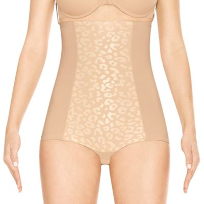 Nude sleek slimmers cheetah body tunic