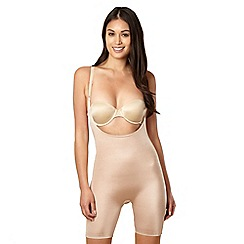 Assets Red Hot Label by Spanx - Nude silhouette serums open-bust mid-thigh body-shaper