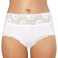 Debenhams - White lace full briefs