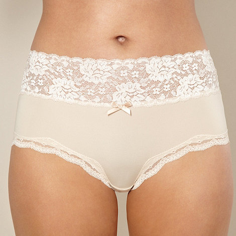 Debenhams - Natural lace full briefs