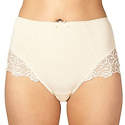 Debenhams - Natural lace full brief