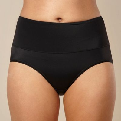 Black cheeky control tummy tamer brief
