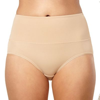 Nude cheeky control tummy tamer brief