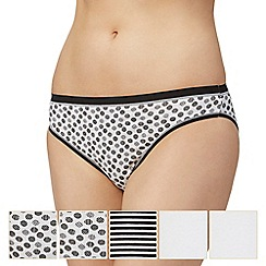 The Collection - 5 pack cotton high leg knickers