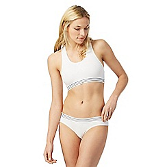 The Collection - White striped trim non-wired non-padded sports bra