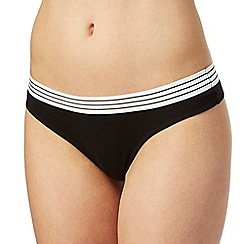 The Collection - Black striped trim thong