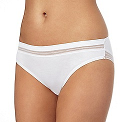 The Collection - White cotton rich Brazilian knickers