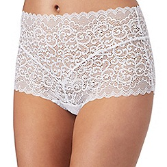 The Collection - White lace full briefs