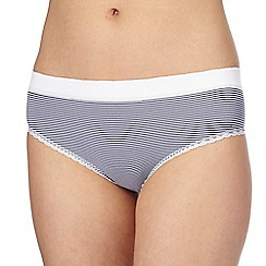 The Collection - Navy striped bikini knickers
