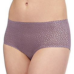 The Collection - Lilac jacquard invisible shorts