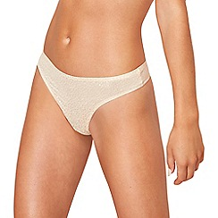 The Collection - Natural jacquard invisible thong