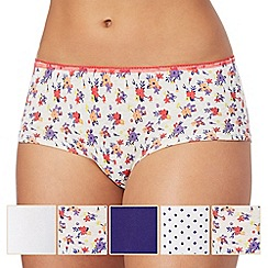 The Collection - Pack of five assorted plain and printed shorts