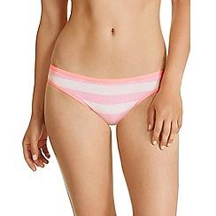 Bonds - Pink striped bikini knickers