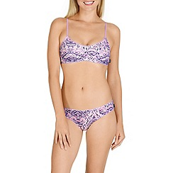 Bonds - Purple cotton 'Paisley Dream' non-wired non-padded crop top