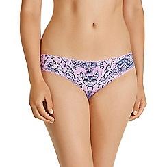 Bonds - Purple cotton paisley print bikini knickers