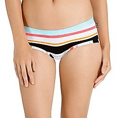 Bonds - White cotton ringer stripe print shorts