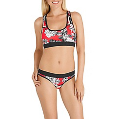 Bonds - Red 'New Era' printed non-wired non-padded sports bra