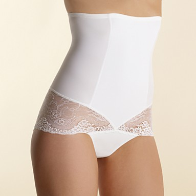 3dde6619b With this (White lace trim high waist control pants - £12 from Debenhams)