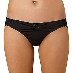 Debenhams - Black lace back brazilian briefs