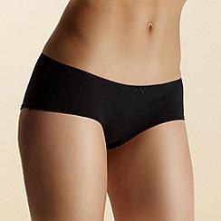 Debenhams - Pack of five black low rise shorts