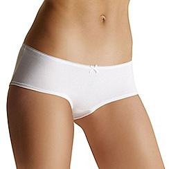 Debenhams - Pack of five white low rise shorts